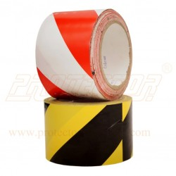 Floor marking tape 75mm double colour.