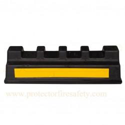 Wheel car stopper heavy duty rubber