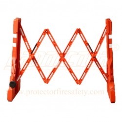 Expandable plastic barrier Red