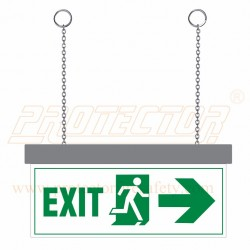 LED Exit with arrow Sign