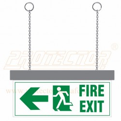 LED Fire Exit with arrow Sign