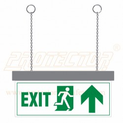 LED Exit with up arrow Sign