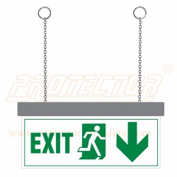 LED Exit with down arrow Sign