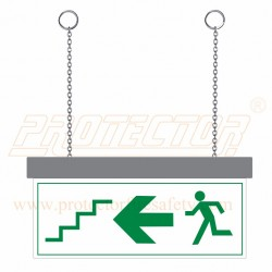 Two side LED Exit Direction Sign