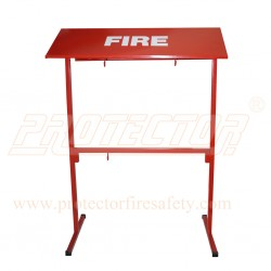 Fire bucket stand powder coated for 4 bucket H/D