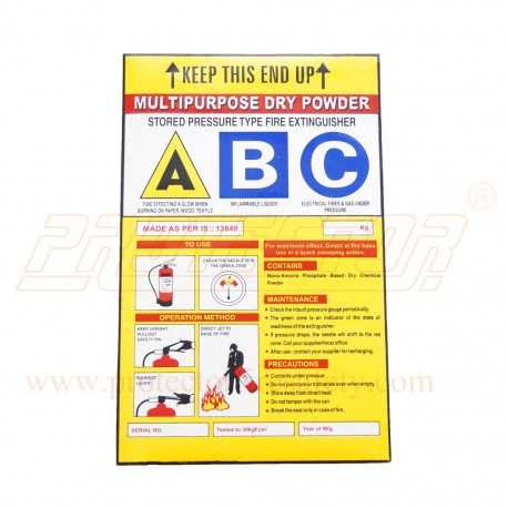 Sticker For Abc Type Fire Extinguisher In Ahmedabad