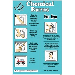 First aid for chemical burn