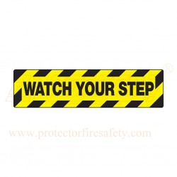 Anti skid floor sign 150 X 600 mm Yellow & Black