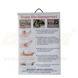Snake bite first aid chart on flex