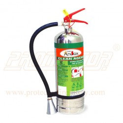 Fire extinguisher clean Agent 6kg Andex Stainless Still