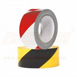 Floor marking tape 50mm. Zebra