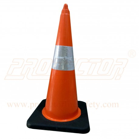 "Cone 750 MM 6"" Sleeve Heavy Rubber Base Orange Pioneer"