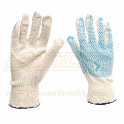 Hand gloves dotted C 1001D Natural Mallcom