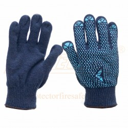 Hand gloves dotted single C1001D Blue Mallcom