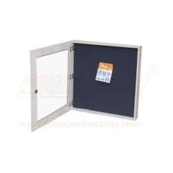 Push Up Pin Board With Glass Openable door with Wooden frame and lock