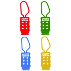 Non conductive nylon plastic lockout hasp with 6 holes