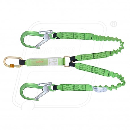 Energy Absorbing Expandable Forked Lanyard PN371 KARAM