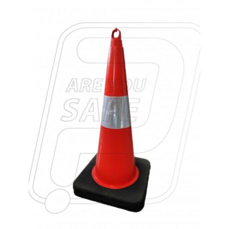"Flexible Cone 750 MM 6"" Sleeve Heavy Rubber Base Orange Pioneer"