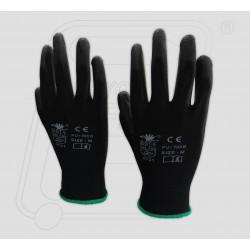 Hand gloves PU coated