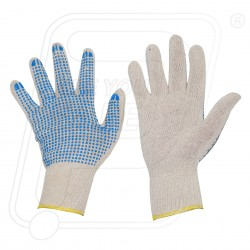 Hand Gloves Dotted Single blue dot on white