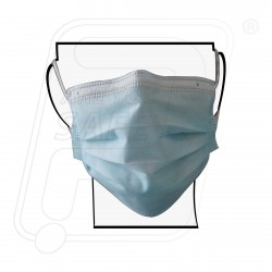 Mask 3 ply Non Woven With Nose clip