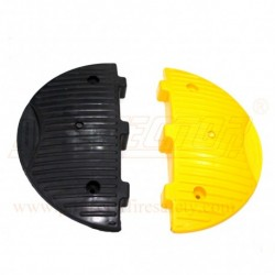 Speed breaker end cap PVC 185 X 350 X 50 mm with installation Pioneer