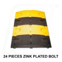 Plastic speed breaker 250 X 750 X 75 mm with installation