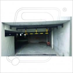 Height bar for basement ramp