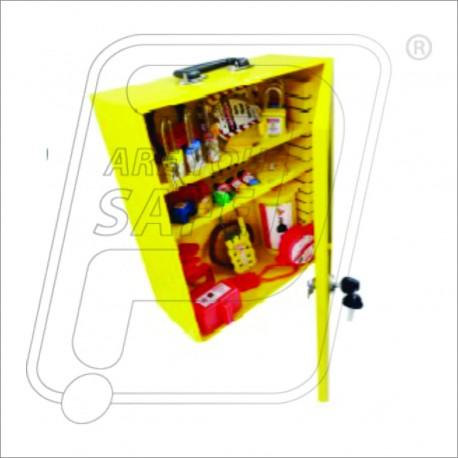 LOTO safety lockout tagout kit with station K37S