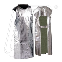 Aluminized Fire Apron 24'' X 36'' 2 layers Commercial Grade