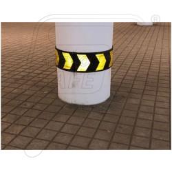 Round Pillar Guard 1000X200X8mm with Yellow reflective arrow