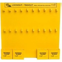 "Open Lockout Tagout Wall Mounted Station 20""(H) x 21""(W)"