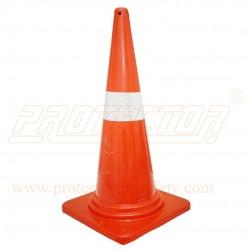 "Cone 740mm 4"" Sleeve Orange Safedot"