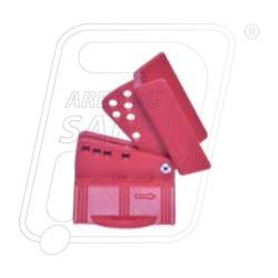 Adjustable butterfly valve lockout BU61