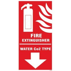 FIRE EXTINGUISHER WATER CO2 TYPE