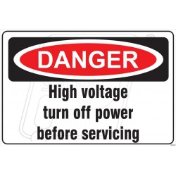 High voltage turn off power before servicing