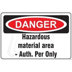 Hazardous material area