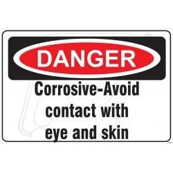 Corrosive avoid contact with eye and skin