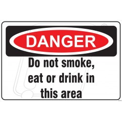 Do not eat or drink in this area
