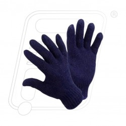Hand gloves knitted Blue 40 Protector