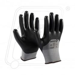 Hand gloves nitrile coated with foam finish P35NBE Mallcom