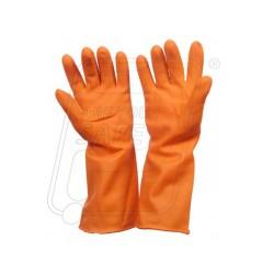 Hand gloves rubber Gold finger 35 cm