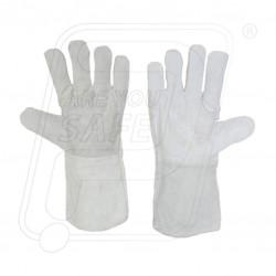 Hand gloves leather export inside lining Gold finger