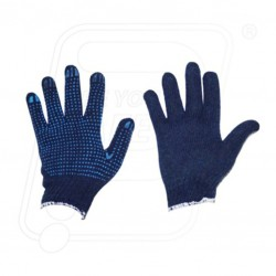 Hand Gloves Dotted Single blue dot on blue
