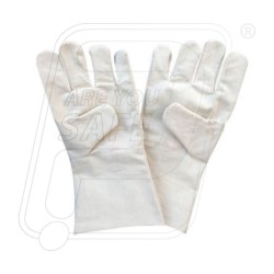 Hand gloves cotton drill 35 cm Protector