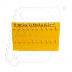 Open lockout hasp station 13''X21''