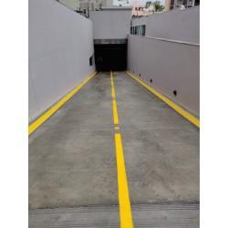 Parking patta by oil paint color