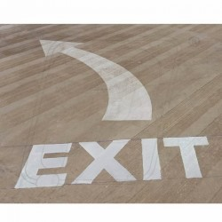 Exit / Entry Floor Marking by Rubber Paint