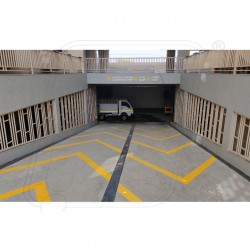 Parking patta by water base paint