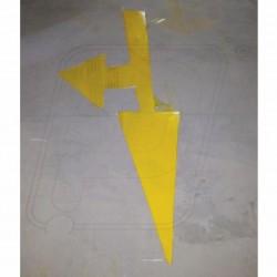 Floor arrow rubber paint